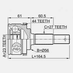 CAP PLANETARA LA EXTERIOR 23X56X27 - NISSAN PRIMERA P11E ER 1996 - 2002