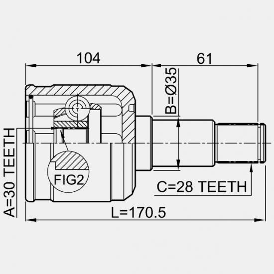 CAP PLANETARA LA INTERIOR STANGA 30X35X28