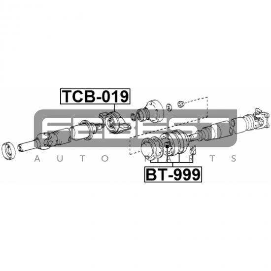 BURDUF PROTECTIE CARDAN - TOYOTA CAMRY SV2 VZV21 (EU) 1986 - 1988