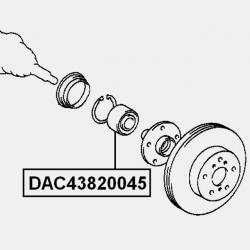 RULMENT ROATA FATA 43X82X45 - LEXUS ES300 MCV20 US 1996 - 2001