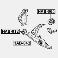 BUCSA BRAT FATA INFERIOR - HONDA DOMANI MB3 / MB4 / MB5 1997 - 2000