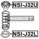 SUPORT INFERIOR ARC SPATE - NISSAN MURANO RUS MAKE Z51R 2010 -